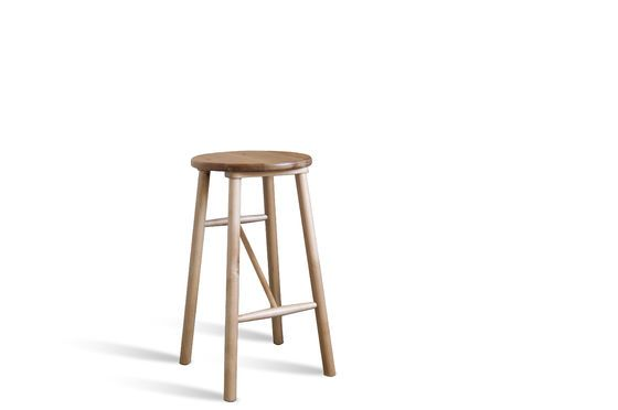 Wooden stool Niels Clipped