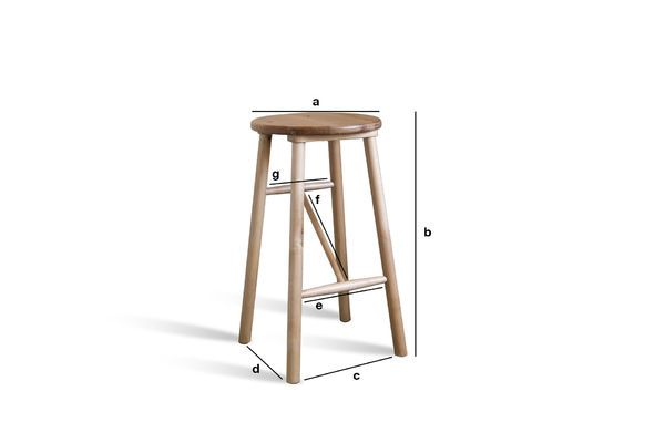 Product Dimensions Wooden stool Niels