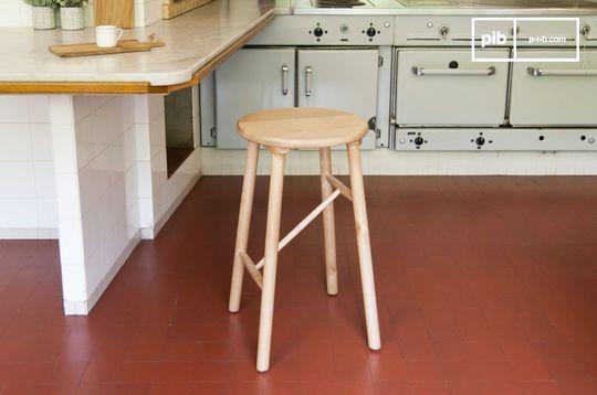 Wooden stool Niels