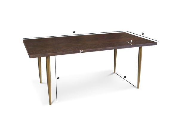 Product Dimensions Wooden table Alienor