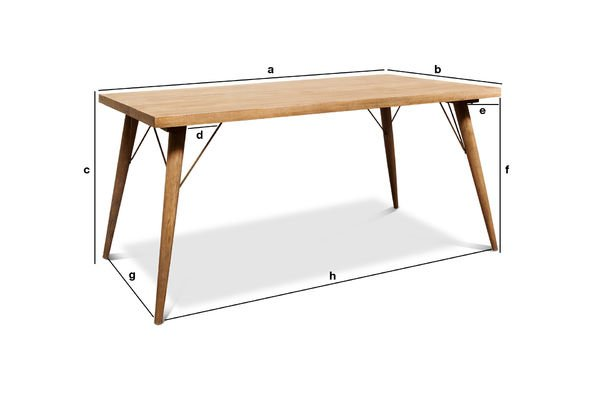 Product Dimensions Wooden table Jotün