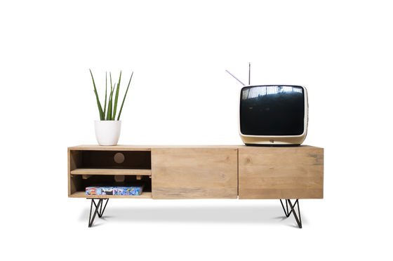 Wooden TV stand Zurich Clipped