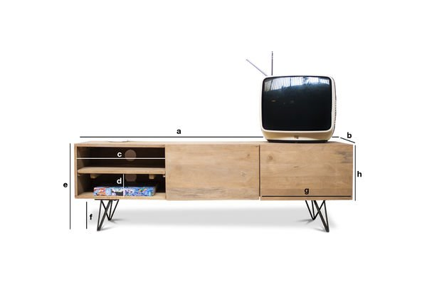 Product Dimensions Wooden TV stand Zurich