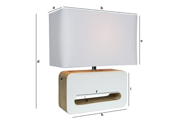 Product Dimensions Woodwite table lamp