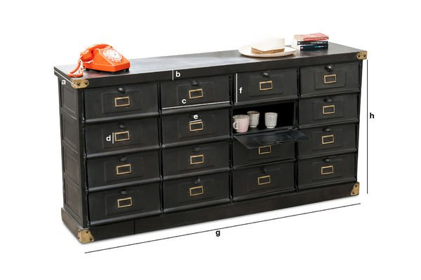Product Dimensions Workshop chest of 16 drawers