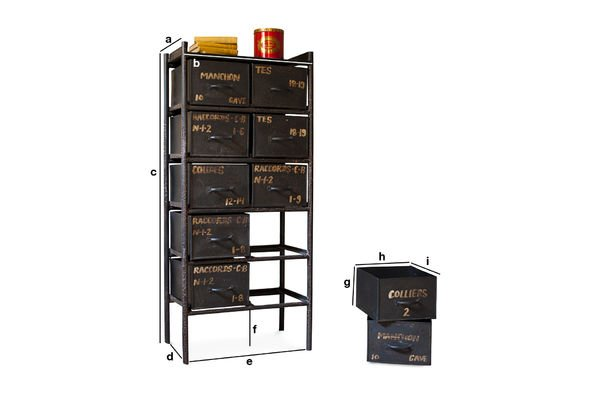 Product Dimensions Workshop chest with 10 drawers