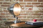 XXL Silver-plated lamp