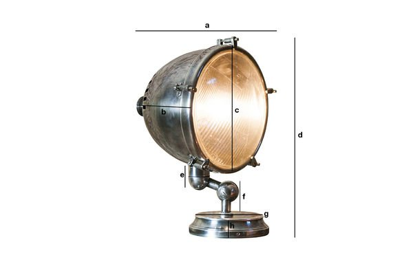 Product Dimensions XXL Silver-plated lamp