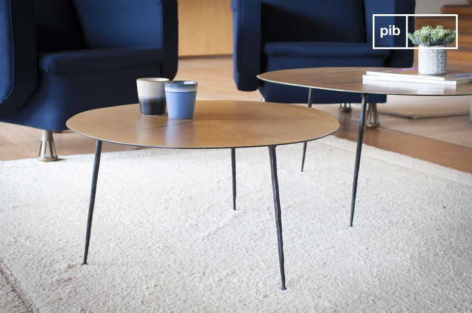 Elegantly, the Xyleme twin coffee table will bring its refinement and lightness to your living room