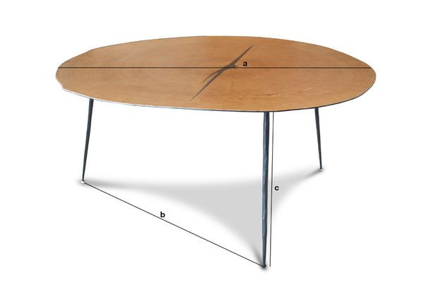 Product Dimensions Xyleme twin coffee table