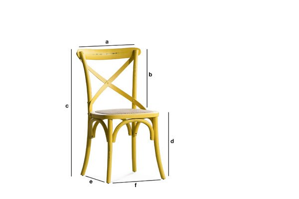 Product Dimensions Yellow chair Pampelune