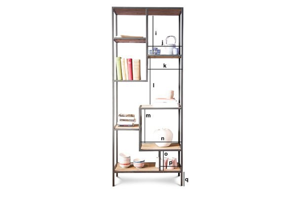 Product Dimensions Yordën bookshelf