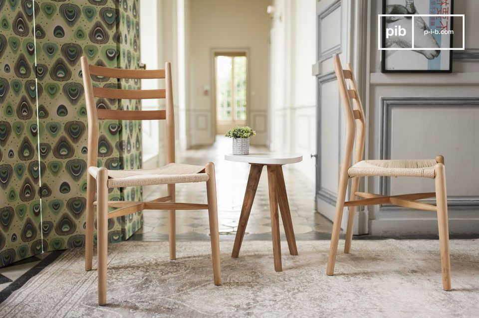 A chair with a sleek design, ideal around a dining table