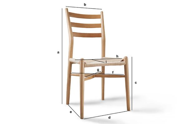 Product Dimensions Ystad wooden chair