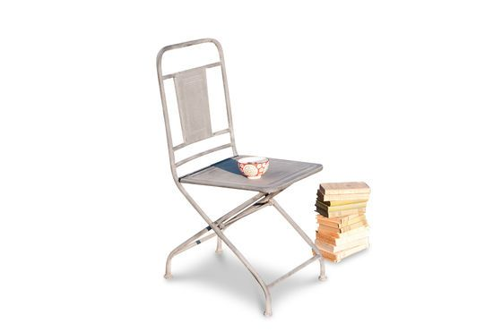 Zinc finish folding chair Clipped
